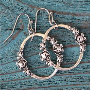 Jewelry - Rose Hoop Earrings